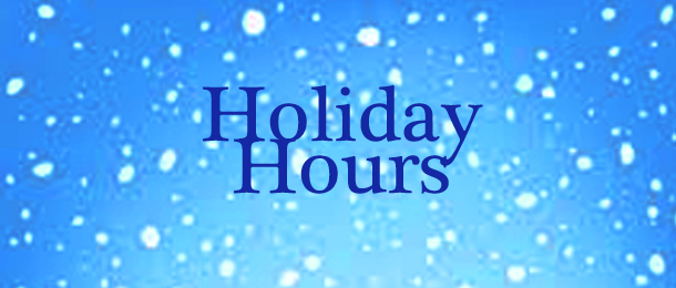 Glendale Holiday Hours