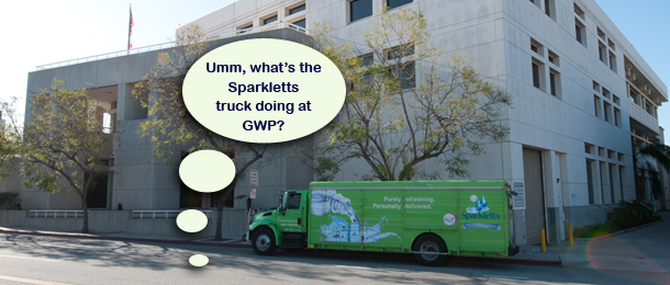 City of Glendale buys Sparkletts water?